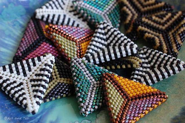Beaded Triangles