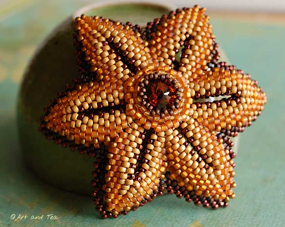 Moms Beaded Flower Pin 2 09 07 13