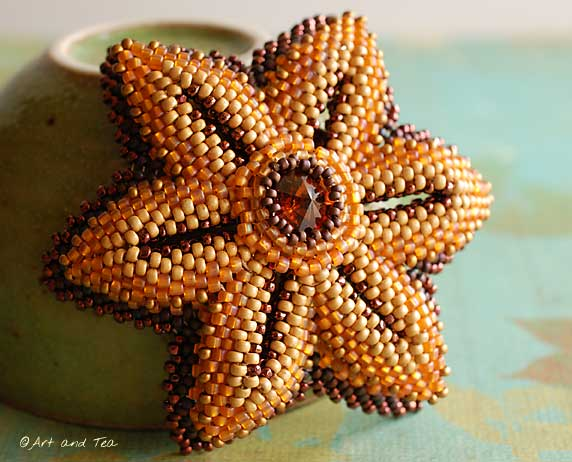 Moms Beaded Flower Pin 3 09-07-13