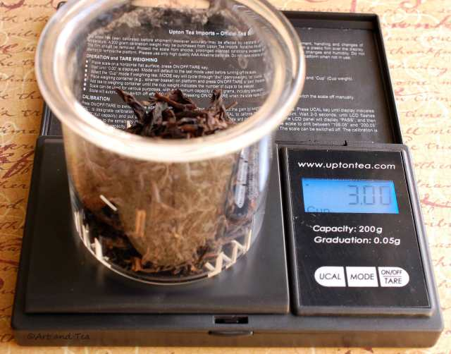 Water Fairy Oolong Weigh Tea On Scale 11-08-14